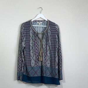 Womens Vintage America Peasant Top Size Large